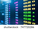 stock exchange market graph... | Shutterstock . vector #747720286