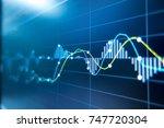stock exchange market graph... | Shutterstock . vector #747720304