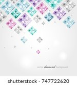 abstract background with... | Shutterstock .eps vector #747722620