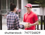 young logistic career concept.... | Shutterstock . vector #747726829