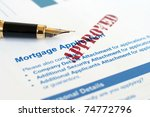 mortgage application | Shutterstock . vector #74772796