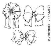 detailed hand drawn... | Shutterstock .eps vector #747732574