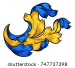 a heraldic floral filigree... | Shutterstock .eps vector #747737398