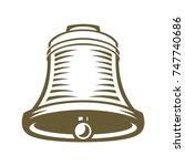 antique bell | Shutterstock .eps vector #747740686