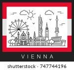 vienna  austria. vector... | Shutterstock .eps vector #747744196