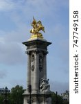 Small photo of Paris, Pont Alexandre III, Statue