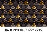 luxury xmas geometry black ... | Shutterstock .eps vector #747749950
