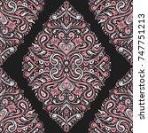 ethnic decorative seamless... | Shutterstock .eps vector #747751213
