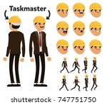 character is a taskmaster man.... | Shutterstock .eps vector #747751750