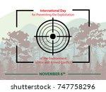 international day for... | Shutterstock .eps vector #747758296