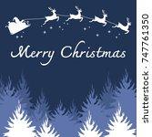 merry christmas illustration... | Shutterstock .eps vector #747761350