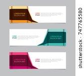 banner design . modern web... | Shutterstock .eps vector #747765580