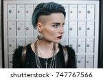 portrait of beautiful freaky... | Shutterstock . vector #747767566