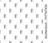 zipper and needle pattern in... | Shutterstock . vector #747767656