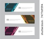 design banner. abstract... | Shutterstock .eps vector #747769594