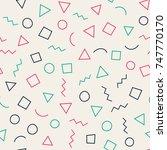 seamless memphis geometric...   Shutterstock .eps vector #747770170