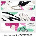 hand drawn creative universal... | Shutterstock .eps vector #747773029