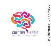 human creative brain   vector... | Shutterstock .eps vector #747774820