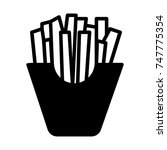 french fries icon  black sign... | Shutterstock .eps vector #747775354