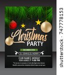christmas flyer | Shutterstock .eps vector #747778153