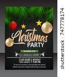 christmas flyer | Shutterstock .eps vector #747778174