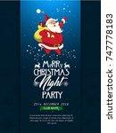 christmas flyer | Shutterstock .eps vector #747778183