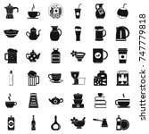 tableware icons set. simple... | Shutterstock . vector #747779818
