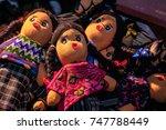 handicrafts  maya dolls dressed ... | Shutterstock . vector #747788449