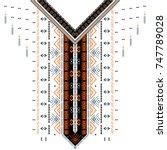 vector design for collar shirts ... | Shutterstock .eps vector #747789028