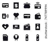 16 vector icon set   card ...   Shutterstock .eps vector #747789994