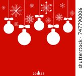 christmas balls | Shutterstock .eps vector #747790006