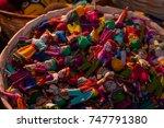 handicrafts guatemalan worry... | Shutterstock . vector #747791380