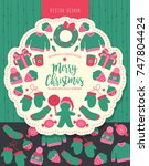 christmas tag   labels | Shutterstock .eps vector #747804424