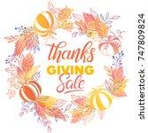 thanksgiving special offer... | Shutterstock .eps vector #747809824
