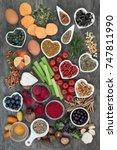 healthy diet food concept to... | Shutterstock . vector #747811990