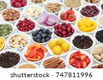 food for a healthy heart with... | Shutterstock . vector #747811996