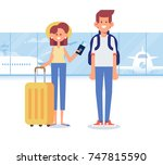 people traveling design. happy... | Shutterstock .eps vector #747815590