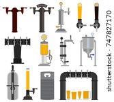set of beer equipment for bar...   Shutterstock .eps vector #747827170