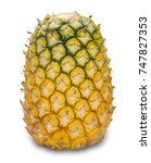 Ripe Pineapple Isolated On...