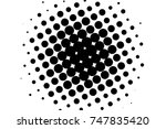 abstract futuristic halftone... | Shutterstock .eps vector #747835420