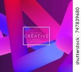 abstract 3d liquid fluid color... | Shutterstock .eps vector #747839680