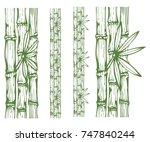 inky monochrome sketch of three ... | Shutterstock .eps vector #747840244