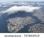 helicopter view of new york...