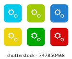 set of rounded square colorful... | Shutterstock . vector #747850468