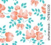 floral seamless pattern.... | Shutterstock .eps vector #747851230