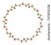 christmas tree string garland... | Shutterstock .eps vector #747853108