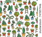 vector seamless pattern with... | Shutterstock .eps vector #747857446