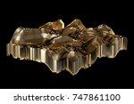 luxury 3d illustration abstract ...   Shutterstock . vector #747861100