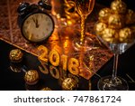 2018 new year's eve celebration ... | Shutterstock . vector #747861724