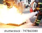 fire drill | Shutterstock . vector #747863380